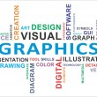 Word cloud - graphics - Stock Vector