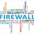 Word cloud - firewall — Stock Vector