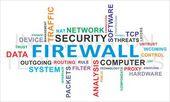 Word cloud - firewall — Stock Vector