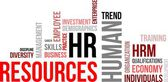 Word cloud - human resources — Stock Vector