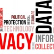 Word cloud - data privacy — Stok Vektör