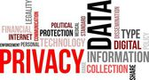 Word cloud - data privacy — Stock Vector