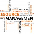 Word cloud - resource management - Vektorgrafik