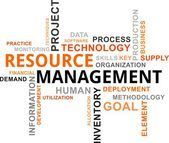 Word cloud - resource management — Stock Vector