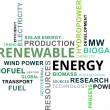 Stock Vector: Word cloud - renewable energy