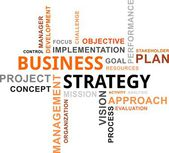 Word cloud - business strategy — Stockvector