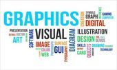 Word cloud - graphics — Vettoriale Stock