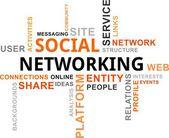 Word cloud - social networking — Stock Vector