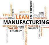 Word cloud - lean manufacturing — Stockvector