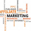 Stock Vector: Word cloud - affiliate marketing