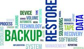 Word cloud - backup restore — Stockvector
