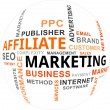 Royalty-Free Stock Imagen vectorial: Word Cloud - Affiliate Marketing