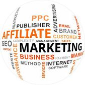 Word Cloud - Affiliate Marketing — Stockvector