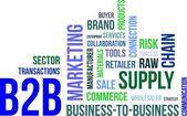 Nuvem de palavras - b2b — Vetorial Stock