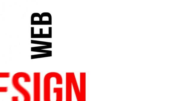 Typographie cinétique - conception web — Vidéo