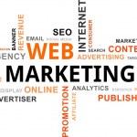 Word cloud - web marketing — Stock Vector #27553629