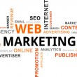 Word cloud - web marketing — Imagens vectoriais em stock