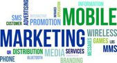 Word cloud - mobiele marketing — Stockvector