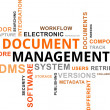 Vector de stock : Word Cloud - Document Management