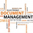 Word Cloud - Document Management — Stok Vektör