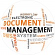 Word Cloud - Document Management — Vettoriali Stock