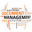 Stok Vektör: Word Cloud - Document Management