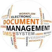 Word Cloud - Document Management — Stockvektor