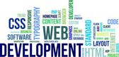 Word cloud - web development — Stockvector