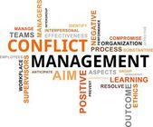 Word cloud - conflict management — Stock Vector