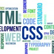 Word cloud - html and css — Imagen vectorial