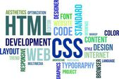Word cloud - html en css — Stockvector