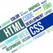 Stock Vector: Word Cloud - Html And Css
