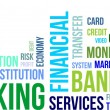 Stock Vector: Word cloud - banking