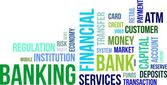 Word cloud - banking — Stock Vector