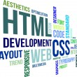 Vector de stock : Word Cloud - Html And Css