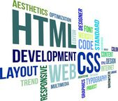 Word Cloud - Html And Css — Stockvector
