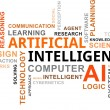 Stock Vector: Word cloud - artificial intelligence