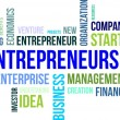 Stock Vector: Word cloud - entrepreneurship