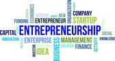 Word cloud - entrepreneurship — Stock Vector