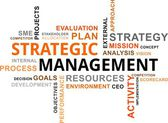 Word cloud - strategic management — Stockvector