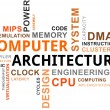 Stock Vector: Word cloud - computer architecture