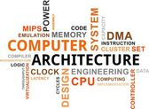 Word cloud - computer architecture — Stock Vector