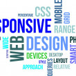 Vetorial Stock : Word cloud - responsive web design