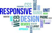 Word cloud - responsieve webdesign — Stockvector