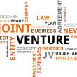 Word cloud - joint venture — Wektor stockowy #31457479