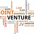 Word cloud - joint venture — Stock vektor #31457479
