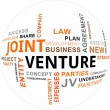 Word Cloud - Joint Venture — Stock Vector