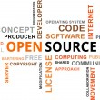 Word Cloud - Open Source — Stock Vector