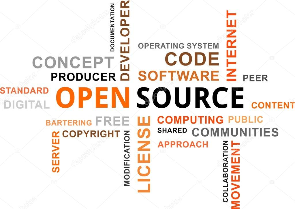 Word cloud open source stock vector masterart 31773665 Open source illustrator