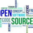 Stock Vector: Word Cloud - Open Source